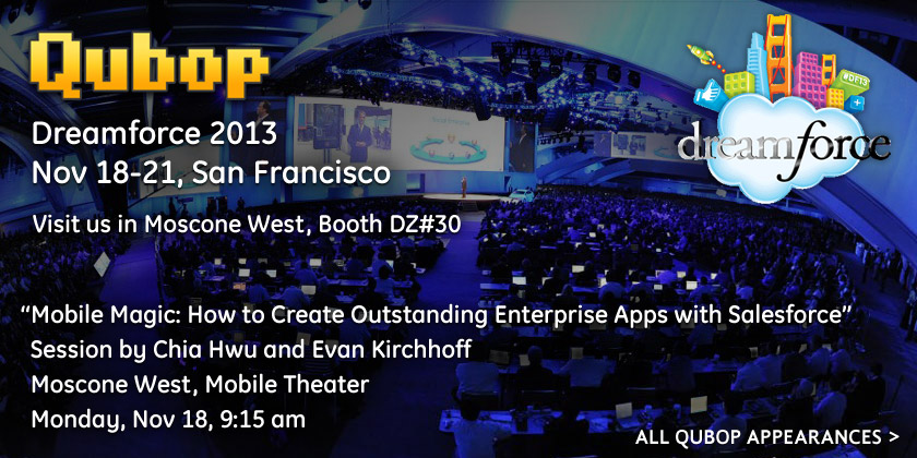 See Qubop at Dreamforce 2013